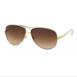 Tory Burch White Aviators